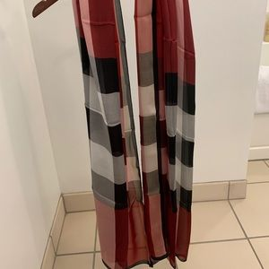 Authentic Burberry silk scarf